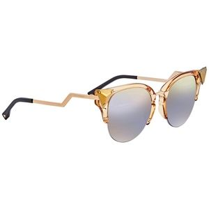 NWT~FENDI~Iridia FF 0041S 27L/FQ Mirror Sunglasses